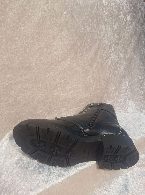 MACJEIKA Black Leather boots sole