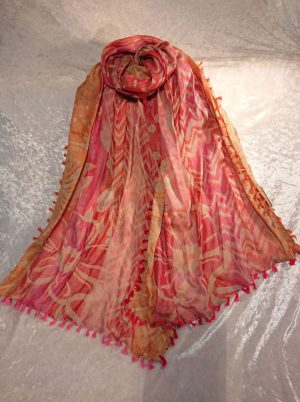 Cotton Embroidered Scarf 1