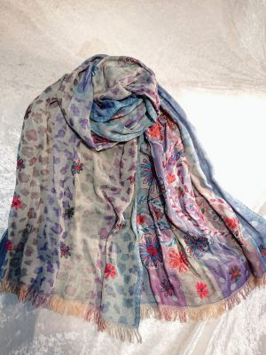 Cotton Embroidered Scarf 2