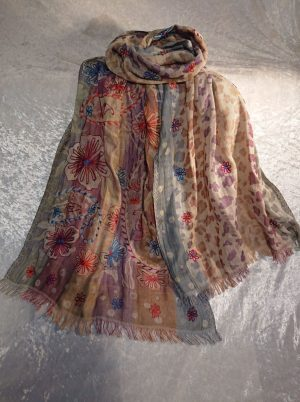 Cotton Embroidered Scarf 3