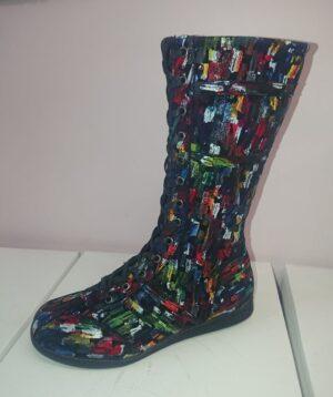 HOTPULSE HPW021-08 Boxer boot-multi-black